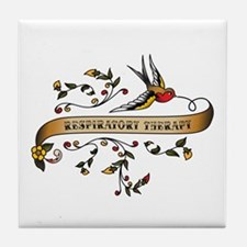 Respiratory Therapy Scroll Tile Coaster