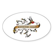 Respiratory Therapy Scroll Oval Decal