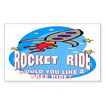 Rocket Ride Rectangle Sticker