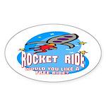 Rocket Ride Oval Sticker