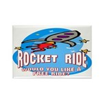 Rocket Ride Rectangle Magnet