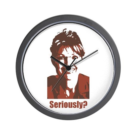 Anti-Sarah-Palin Wall Clock