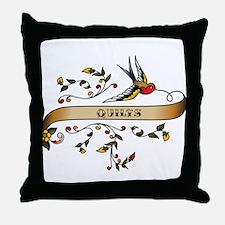 Quilts Scroll Throw Pillow