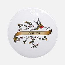 Quilts Scroll Ornament (Round)