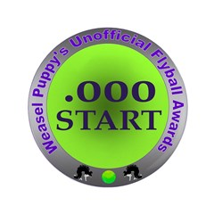 "Perfect Start Flyball Award 3.5"" Button (100"