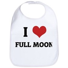 I Love Full Moon Bib