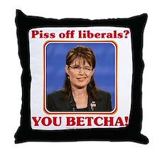 Sarah Palin You Betcha Throw Pillow
