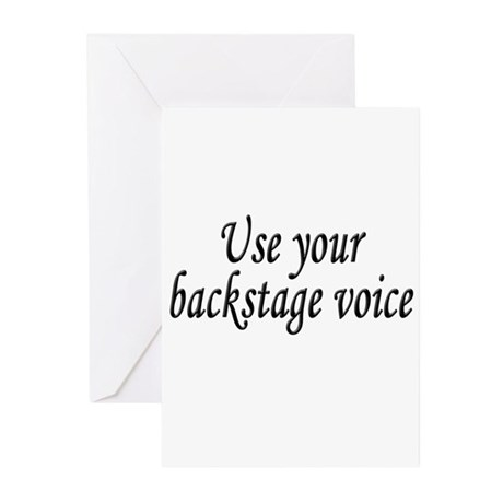 Backstage Voice Greeting Cards (Pk of 10)