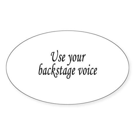 Backstage Voice Oval Sticker