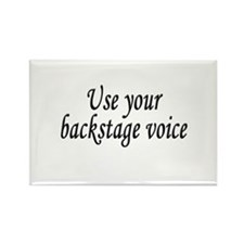 Backstage Voice Rectangle Magnet