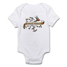 Postal Service Scroll Infant Bodysuit