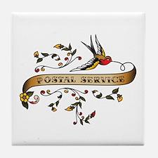 Postal Service Scroll Tile Coaster
