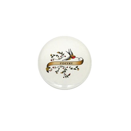 Poetry Scroll Mini Button (10 pack)