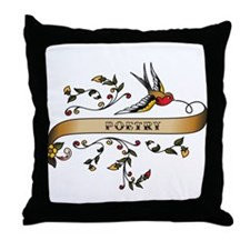 Poetry Scroll Throw Pillow