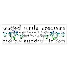 Winged Turtle Logo Bumper Bumper Sticker
