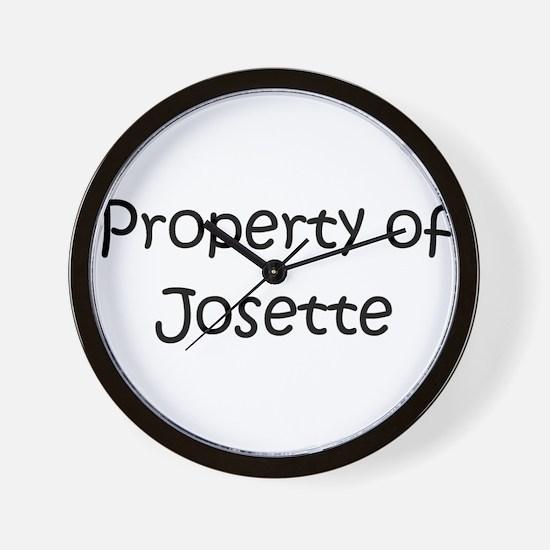Funny Josette Wall Clock