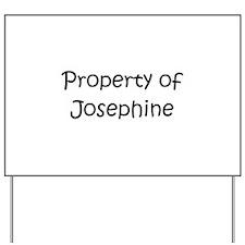 Unique Josephine Yard Sign