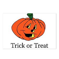 Trick or Treat Pumpkin Postcards (Package of 8)
