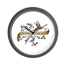 Physical Therapy Scroll Wall Clock