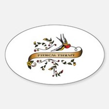 Physical Therapy Scroll Oval Sticker (10 pk)