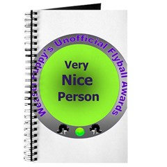 Nice Person Flyball Award Journal