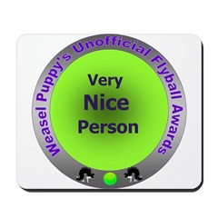 Nice Person Flyball Award Mousepad