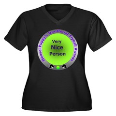 Nice Person Flyball Award Women's Plus Size V-Neck