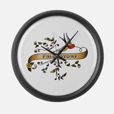 Phlebotomy Scroll Large Wall Clock