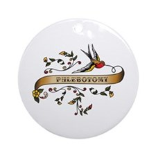 Phlebotomy Scroll Ornament (Round)
