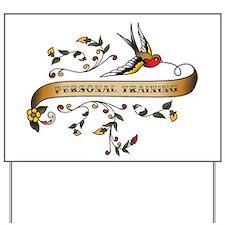 Personal Training Scroll Yard Sign