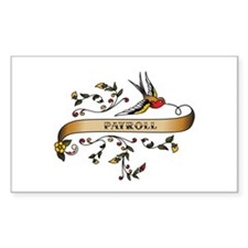 Payroll Scroll Rectangle Decal