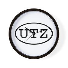 UTZ Oval Wall Clock