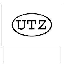 UTZ Oval Yard Sign