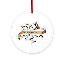 Orthodontics Scroll Ornament (Round)