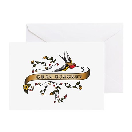 Oral Surgery Scroll Greeting Card