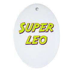 Super leo Oval Ornament