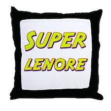 Super lenore Throw Pillow