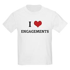 I Love Engagements Kids T-Shirt