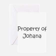 Cool Johana Greeting Card