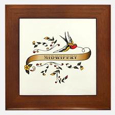 Midwifery Scroll Framed Tile