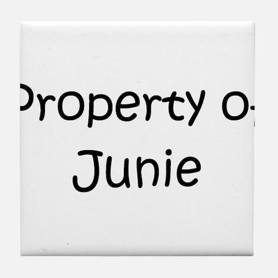 Cute Junie Tile Coaster