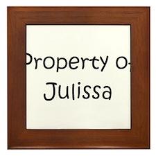 Unique Julissa Framed Tile
