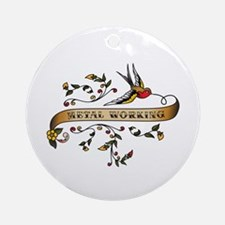Metal Working Scroll Ornament (Round)