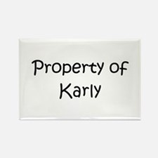 Funny Karly Rectangle Magnet
