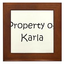 Unique Karla Framed Tile