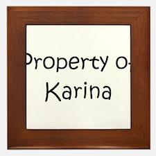 Cute Karina Framed Tile