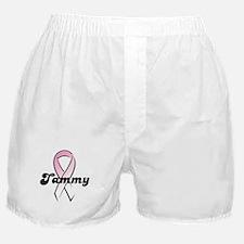 Tammy Pink Ribbon Boxer Shorts