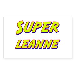 Super leanne Rectangle Decal