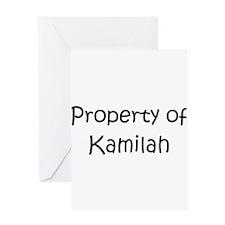 Funny Kamilah Greeting Card