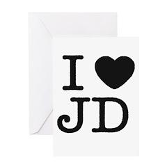 I Heart J.D. Greeting Card